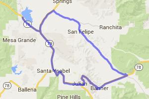 Back Road Loop Through Julian |  California