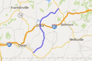Portville to Belfast on Rt 305 |  New York