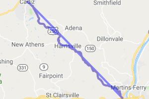 Ohio US Route 250 - Bridgeport, OH to Cadiz, OH    Ohio
