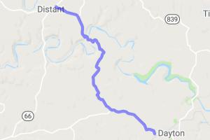 Belknap-Distant Road - PA County Route 1018 & 1025    Pennsylvania