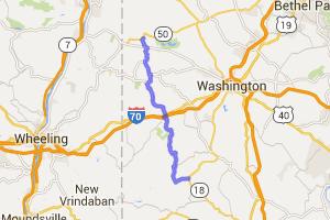 Pennsylvania Route 231 - Avella, PA to near Nineveh, PA -    Pennsylvania