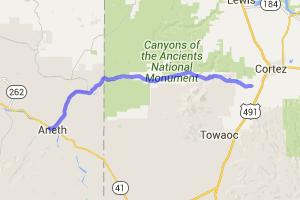 McElmo Canyon - Cortez CO to Bluff Utah |  Colorado