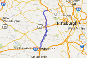 Ohio River Scenic Route 7 - East Liverpool to Wheeling |  Ohio