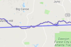 Tate to Dawsonville on State Road 53 |  Georgia