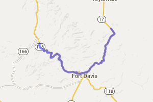 Davis Mountains near Fort Davis State Park    Texas