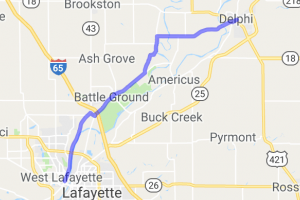 Lafayette to Battle Ground to Delphi |  Indiana
