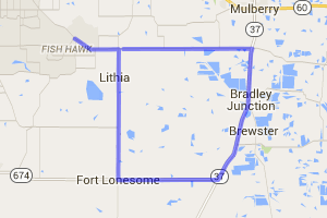 Lithia Routes 39 and 37 Loop |  Florida