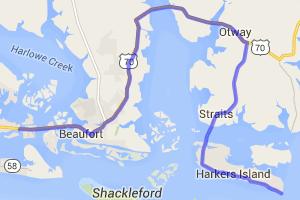 Beaufort to Harkers Island NC    North Carolina