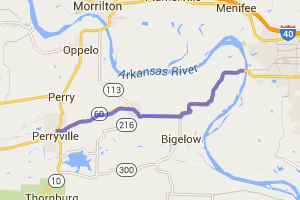 Conway to Perryville on Route 60 |  Arkansas