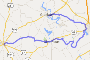 North Central Texas - Dinosaur Valley Route    Texas