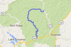 NC 215 - Alternate to or from Blue Ridge Parkway |  North Carolina
