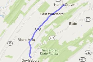 PA Route 75 - Doylesburg to Honey Grove    Pennsylvania