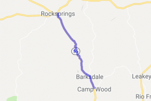 Rocksprings to Camp Wood on TX Route 55 |  Texas
