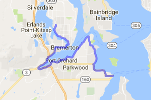 The Puget Sound to Sinclair Inlet to Dyes Inlet Ride |  Washington