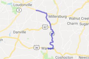 Route 60 Nashville to Warsaw |  Ohio