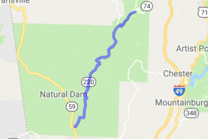 AR 220 from Devil's Den State Park to Cedarville |  Arkansas