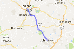 Indiana PA to Johnstown PA on Route 56 |  Pennsylvania