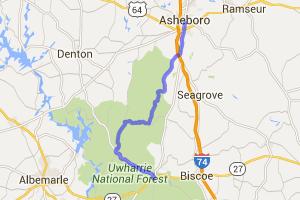 Jump Off Rock to Asheboro |  North Carolina