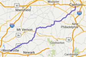 Columbus to Massillon on US 62 |  Ohio