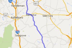 The North Carolina Piedmont along NC 22 |  North Carolina
