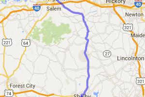 Route 18 - Shelby to Morganton NC |  North Carolina