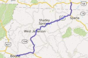 US 221 - Independence, VA to Boone, NC |  Virginia