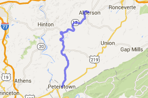 Route 12 - Alderson to Peterstown |  West Virginia