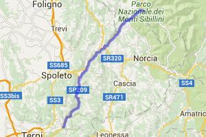 Central Italy Val Nerina Road |  Italy