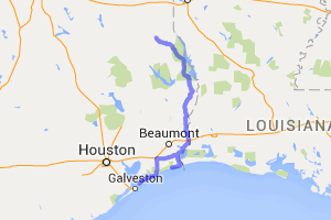 Hwy. 87 From Timpson Tx to Galveston |  Texas