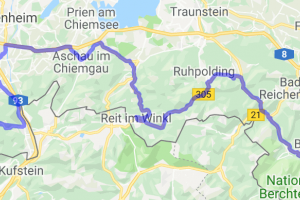 Eastern German Alpine Road (easternmost 150 KMs of Deutsche Alpenstrasse) |  Germany
