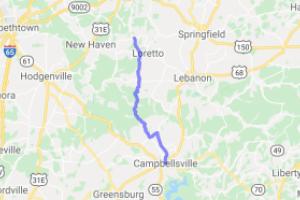 Campbellsville to Holy Cross KY |  Kentucky