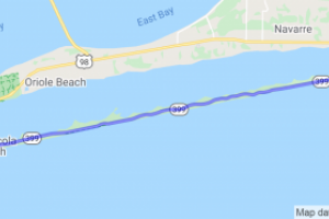 Route 395 Along Santa Rosa Island |  Golf Coast