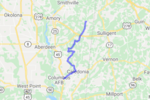 Country Ride From Caledonia to Splunge Mississippi |  Mississippi