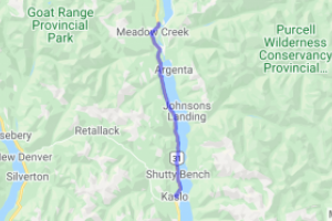 Kaslo to Meadow Creek BC Hwy 31 (British Columbia, Canada) |  Canada