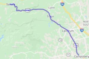 Saluda NC to Chesnee SC Along US 176 |  South Carolina