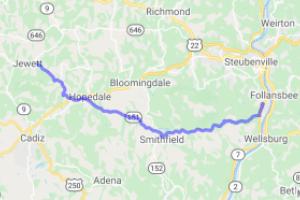 Ohio Route 151 (East) - Jewett, Ohio to Ohio River    Ohio
