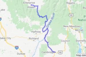 Cambridge Idaho to Joseph Oregon    Oregon