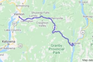 Hwy 6 - Vernon to Fauquier (British Columbia, Canada) |  Canada