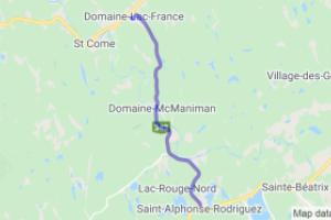 Domaine-Lac-France to Saint-Alphonse-Rodriguez |  Canada