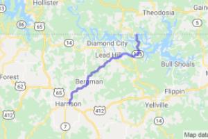 Harrison to Peel Ferry - AR-7 to AR-125    Arkansas