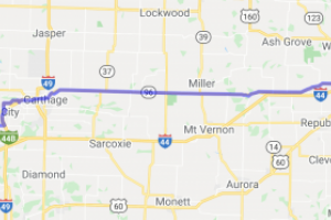 US Route 66 - Springfield to Galena    Missouri
