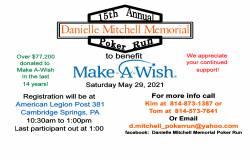 The 15th Annual Danielle Mitchell Memorial Poker Run |  Pennsylvania