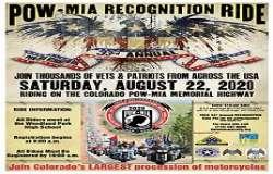 33rd Annual POW/MIA Recognition Ride |  Colorado