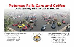 Potomac Falls Cars and Coffee – Every Saturday |  Virginia