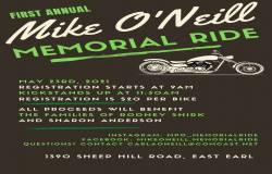 1st Annual Mike O'Neill Memorial Ride |  Pennsylvania