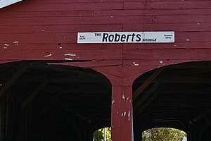 Ohio's Robert's covered bridge motorcycle ride