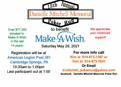 The 15th Annual Danielle Mitchell Memorial Poker Run |  Pennsylvania
