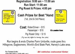 14 yr old Andrew Hess memorial Poker Chip Run & Pig Roast |  Pennsylvania