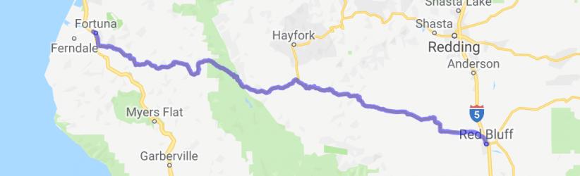 Twisty Road - Next 140 miles!!! (California Route 36)    California