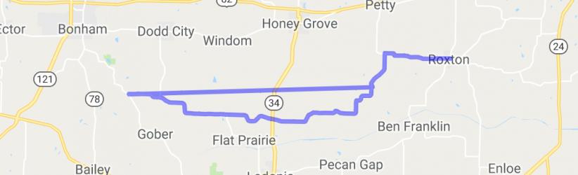 Farm to Market Roads 1500 to 824 to 137    Texas